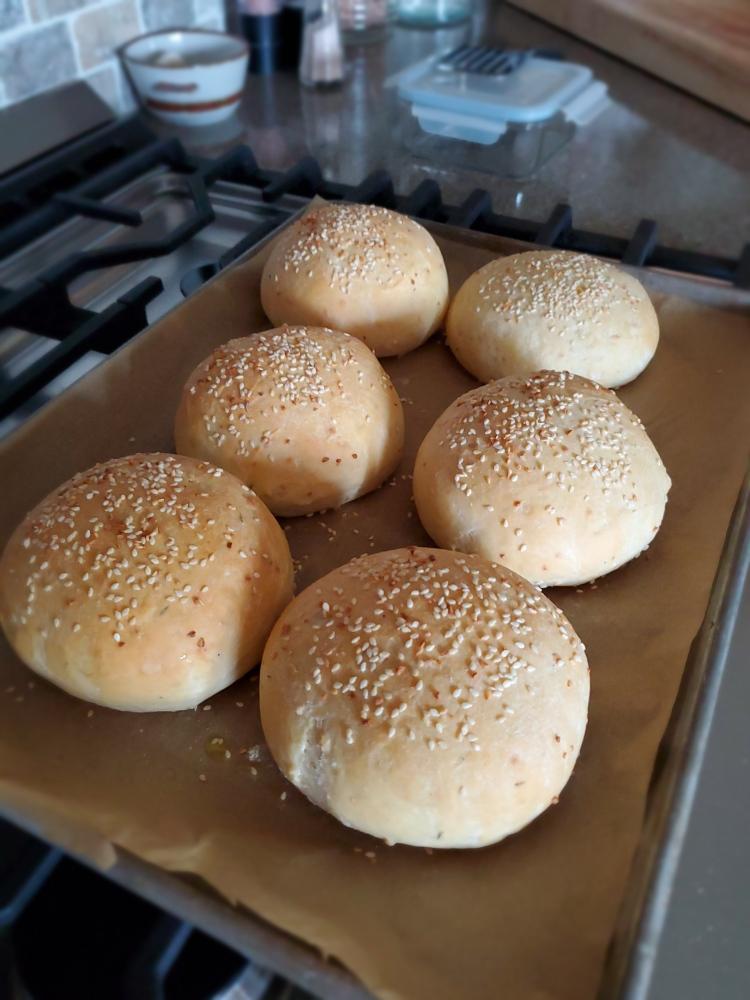Home made burger buns