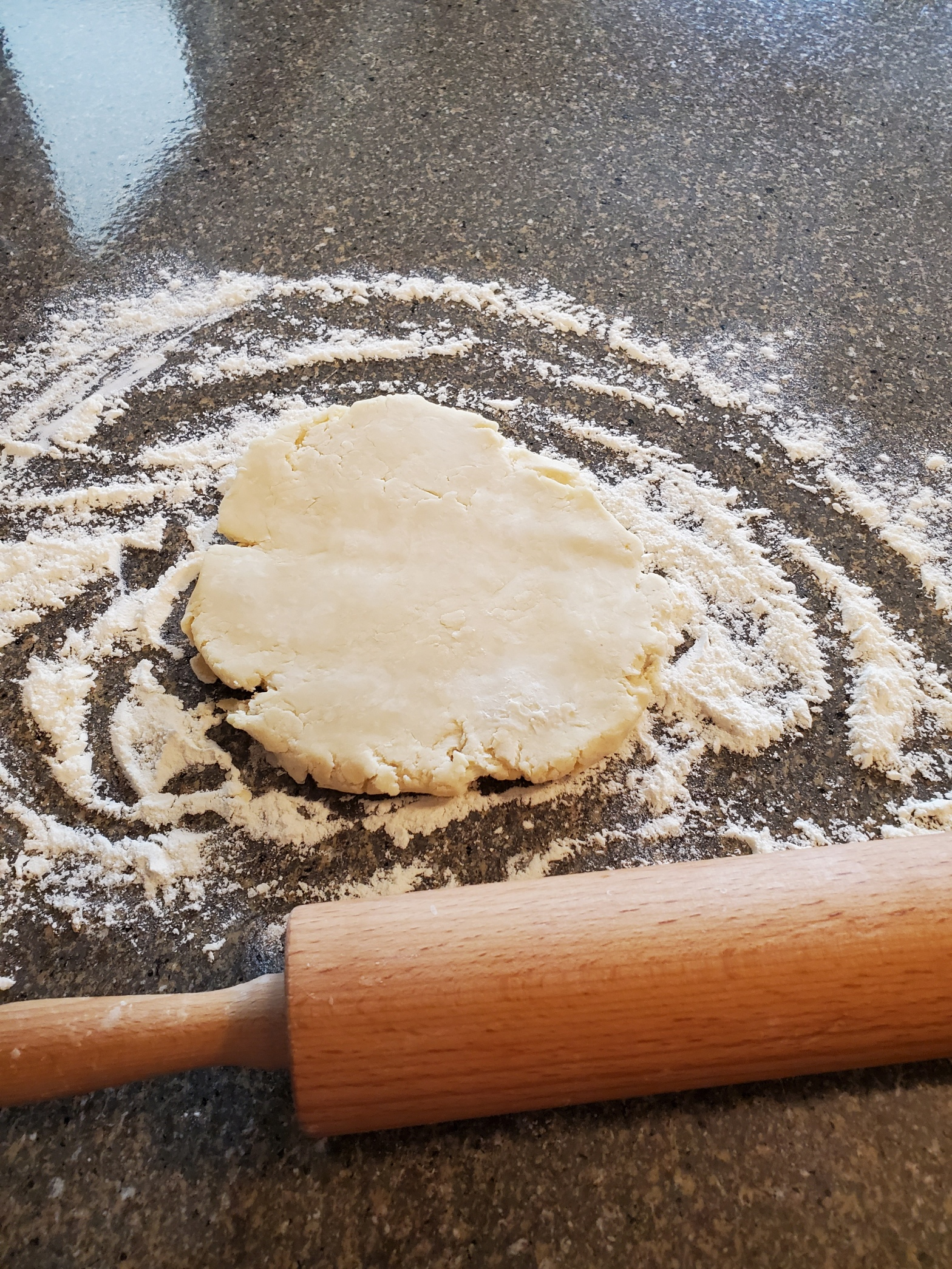 Pie crust being rolled out