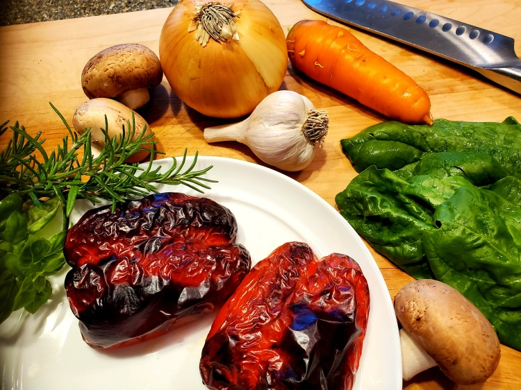 Roasted Red pepper and veggies