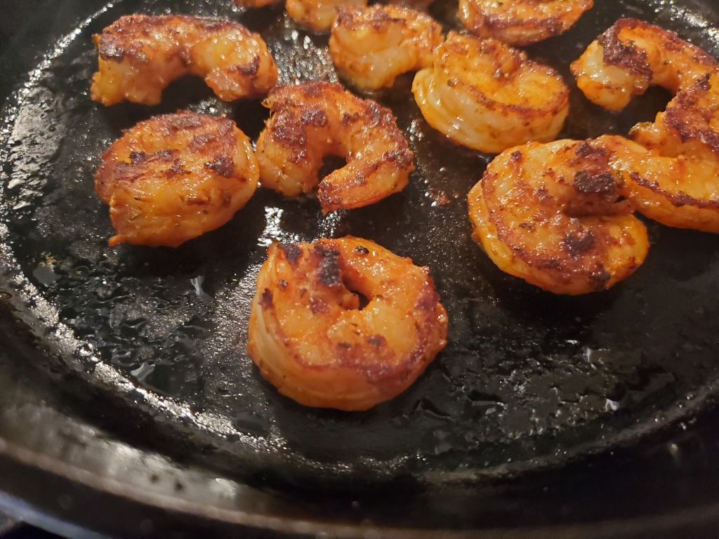 cooking blackened shrimp